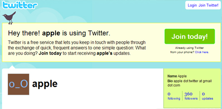 Valuable Twitter Account: twitter.com/apple
