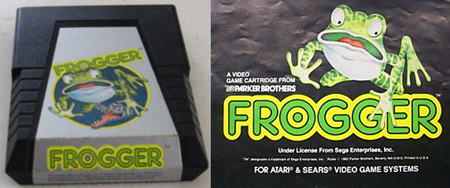 Atari 2600: Frogger cartridge and instruction manual