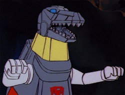 Me Grimlock here to save universe.