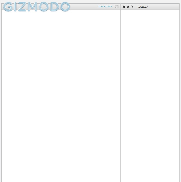 Hey Gizmodo. Disable Javascript and this is what you see: Nothing.