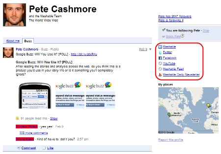 Google Profile: Mashable's Pete Cashmore on Google Buzz