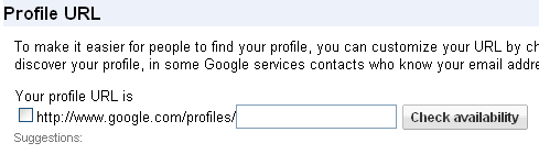 Google Profile URL: Custom URL (non-Gmail Account)