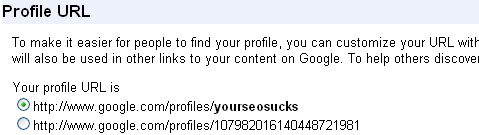 Google Profile URL: Custom URL for Your SEO Sucks!