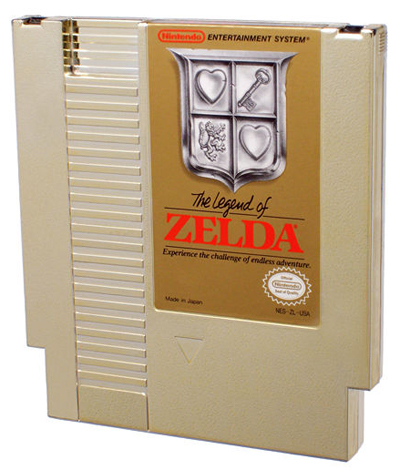The Legend of Zelda golden cartridge