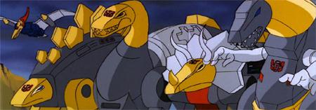 Dinobots: Swoop, Snarl, Sludge, Slag, Grimlock