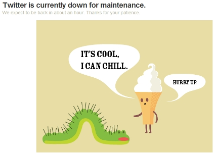 Twitter Caterpillar & Icecream Cone Maintenance Guy